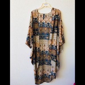 🍇 Lord&taylor printed long cover up NWT